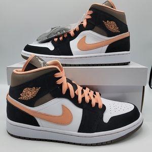 Air Jordan 1 Mid 'Peach Mocha' Women